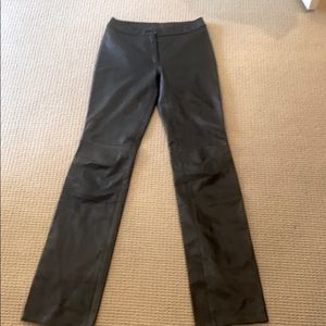 🔴 BLACK LEATHER NORTHBEACH  LINED PANT SIZE 2
